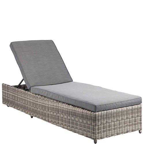 BUTLERS BLOCK PARTY Liege mit Auflage - 4fach verstellbar - Lounge-Möbel - outdoor - Gartenmöbel - Kunst-Rattan - wetterbeständig - 205 x 65 x 33 cm (Party Lounge-möbel)