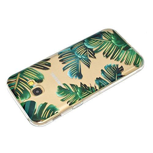 Vandot 3 X Housse pour Samsung Galaxy A3 2017 Beau Motif Plumes Etui [3PCS] TPU Silicone Doux Transparent Coque pour Samsung Galaxy A3 2017 Anti-choc Anti-scratch Ultra-mince Ultraléger Coquille Cas d GY(3PCS)-02