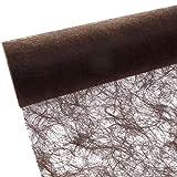 Sizoflor Tischband - 25 Meter Rolle + 100 Deko Sterne in Gold Gratis (20cm Breite, Schokolade/Braun)