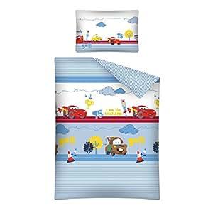 Parure de lit bébé Cars Disney housse de couette 100% coton