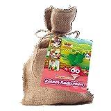 geschenkartikel-shopping Pflanz-Set Gemüse Rainer Radieschen Saatgut Geschenkidee im Jute-Sack