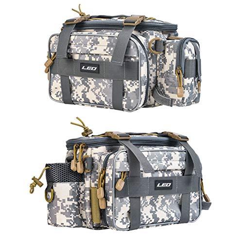 Ruixf 1000D Oxfordstoff Werkzeugbeutel, Wasserdichte Aufbewahrungstasche, Reisetasche, Angeltasche, Handtasche, Schultertasche (Tarnen)