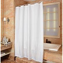 Mytobang 1PCS Cortinas de ducha del cuarto de baño Cortinas de ducha del cuarto de baño Impermeable Anti-bacteriano, y resistente al moho Cortina de ducha de tela libre, blanco, PEVA (200x240cm)