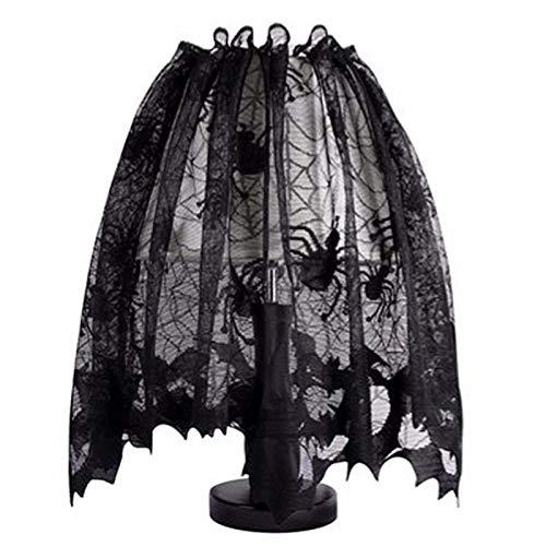 vlovelife 50,8x 152,4cm Halloween Lampenschirme Lampenschirm, Topper Schal Spider Web schwarz Spitzenband Dekoration