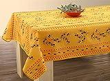 Abwaschbare Tischdecke gelb-rot Oliven, ca. 200x150 cm, Antitache, Provence-Tischdecke