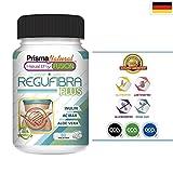 REGUFIBRA PLUS - Detox mit Aloe Vera und Inulin - Verbessert die Darmflora - Darmreinigung - Darmsanierung - Colon Cleanse - Ballaststoffe - Vegan und Vegetarische Kapseln zum abnehmen - 60 Tabletten