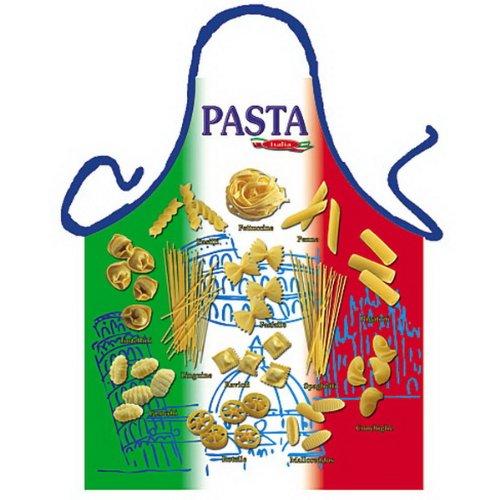 sabuy Grillschürze - Kochschürze - Italienische Pasta Nudeln - Lustige Motiv Schürze als Geschenk für Grill Fans mit Humor