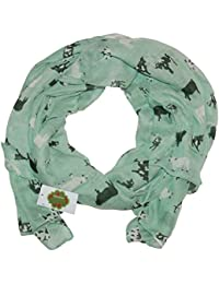 New with Tags Cows Print Design Women's Scarves Large Scarfs Shawl (Sea green)