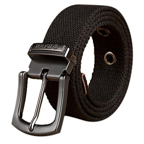 Leinwand Gürtel, ITIEZY Verstellbare Gurtband Canvas Gürtel Sportswear Outdoor Gürtel für Männer Taktische Militärgürtel Herren Stoffgürtel 125cm
