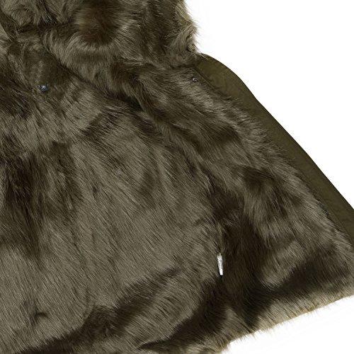 finest selection a599c 74bd6 Warmer Damen Winter Kurz Parka Winterjacke großes Kunstfell ...