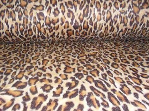 KosiKrafts® Grade A 60 inch Width Leopard Polar Fleece
