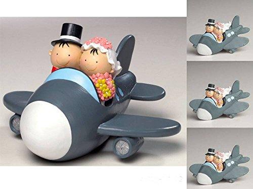 Pack 12 Imanes Boda novios avión figura/hucha tarta
