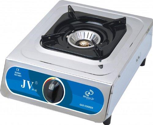 CAGO JV 02 Gaskocher 1-flammig aus Edelstahl 5,0 kW - Leistung Wok-brenner