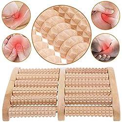 BESTZY Massager à pieds roulés en bois Outils de réflexologie pour la douleur au pied,le stress Thérapie acupression Réflexologie outil de massage des pieds rouleau