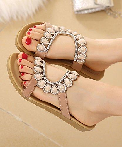 CHAOXIANG Pantofole Da Donna Antiscivolo Con tacco Ciabatte Piatte Sandali Da Surf Nuova Estate Ciabatte Spiaggia ( Colore : A , dimensioni : EU37.5/UK4.5/CN38 ) A