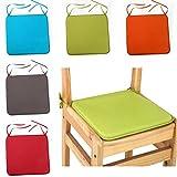 SUNERLORY Stuhl-Sitzpolster, abnehmbar, für Esszimmer, Garten, Wasserdichte Stuhl-Sitzpolster mit...