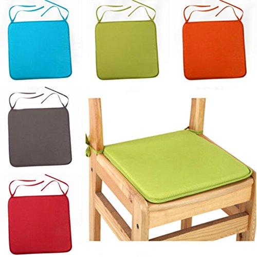 UxradG carré de luxe salle à manger galettes de coussins de chaise, étanche avec cordon pour voiture Canapé Bureau Tatami Décoration, Orange, Taille unique