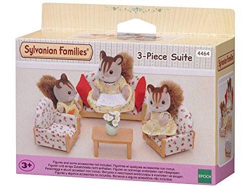 Sylvanian Families Canapé/2 Fauteuils/Table Basse, 4464