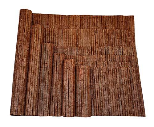 Nature LOUNGE Rindenmatte 180 x 300 cm - Sichtschutz Zaun mit Langer Haltbarkeit - Strapazierfähige Sichtschutzmatte aus Baumrinde