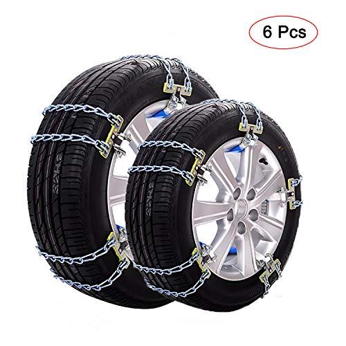 GUHAIBO Cadenas De Nieve para llantas de automóviles, seguridad de servicio pesado ajustable Cadenas De Neumáticos, Cadena Antideslizante para la mayoría de autos/camionetas,195-235mm/7.6-9.1in