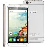 CUBOT Dinosaur EU 4G Débloqué Smartphone, 5.5 Pouce 2.5D IPS HD Écran, 3GB RAM+16GB ROM MT6735A Quad Core 1.3GHz Android 6.0, Double SIM HotKnot - Blanc