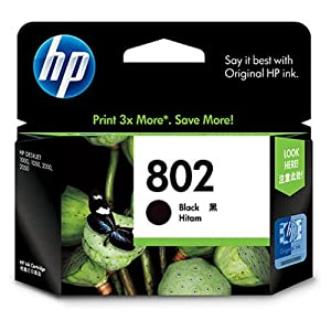 HP 802 2-Pack Small Black/Tri-Color Ink Cartridges