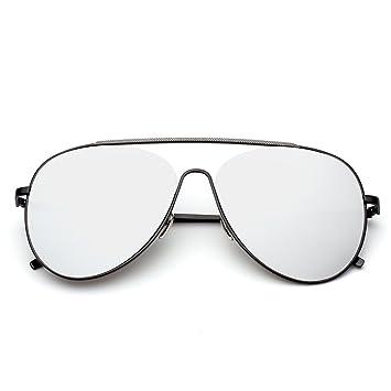 Wkaijc Yurt Mode Persönlichkeit Bequem Elegant Metall Große Kiste Sonnenbrille Fahrer-Sonnenbrille,A