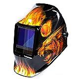 LAIABOR Casco De Soldadura Máscara para Soldar De Energía Solar De Oscurecimiento Automático Y Ajustable para MIG TIG MM