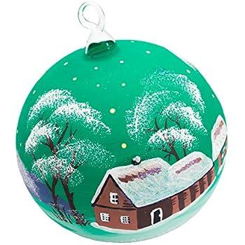 Seit Wann Gibt Es Christbaumkugeln.Handgemachter Weihnachtsschmuck Die Weihnachtskugeln Aus Glas Sind Handbemalt Es Gibt Blaue Grüne Und Bordorote Kugeln Mit Einem Durchmesser Von