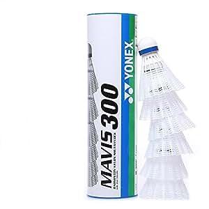 Yonex Mavis 300 Blue Cap Nylon Shuttlecock (White)