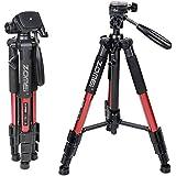 ZOMEI®Q111 Trépied professionnel pour appareil photo et camera avec un sac de transport. Compatible Canon, Nikon et Sony(ROUGE)