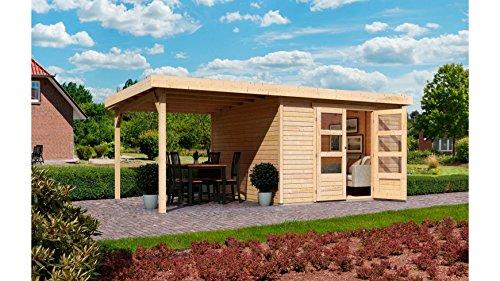 KARIBU Gartenhaus Arnis 6, BxT: 302 x 306 cm, mit Schleppdach (ca. 220 cm breit) Natur