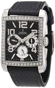 Festina - F16362/H - Montre Femme - Quartz Chronographe - Bracelet Cuir Noir