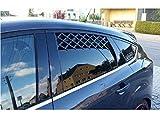 2er Set Tier-Frischluftgitter für das Autofenster Fenstergitter Autogitter für beide Fenster