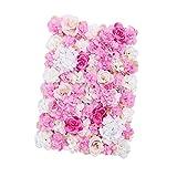 Non-brand Panneau Mural en Forme de Fleur Artificielle - 60 x 40 cm - Toile de Fond Romantique - Toile de Fond - pour Photographie de Mariage, Rose, 60 x 40 cm