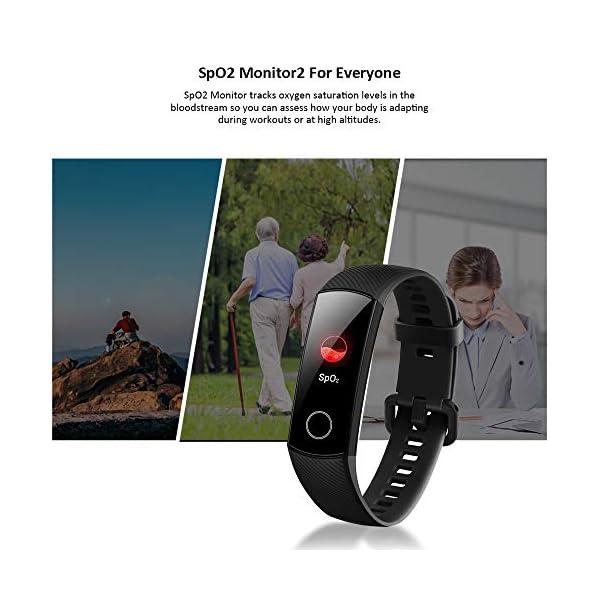 HONOR Band 5 Smartwatch Pulsera de Actividad con Pulsómetro Mujer Hombre, Monitor de Actividad Deportiva, Ritmo Cardíaco, Impermeable IP68, Reloj Fitness, con Podómetro 4