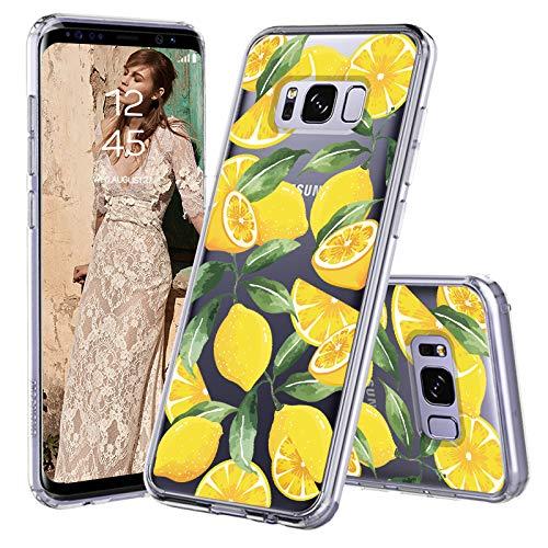 MOSNOVO Galaxy S8 Plus Hülle, Zitrone Muster TPU Bumper mit Hart Plastik Hülle Durchsichtig Schutzhülle Transparent für Samsung Galaxy S8 Plus Case (Lemon)
