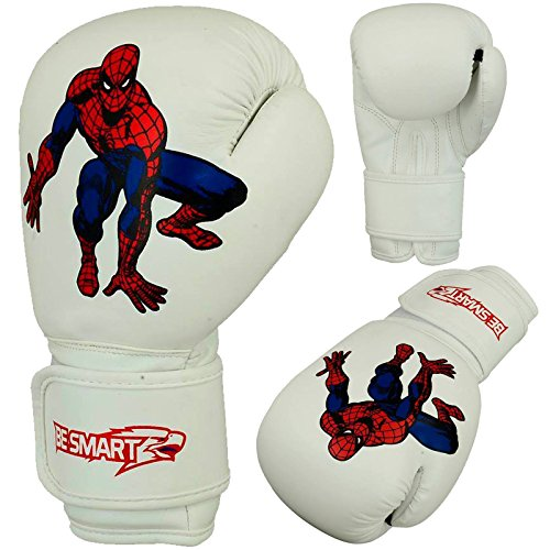 besmart Kinder Boxhandschuhe Junior Pad 113,4 g, 170,1 Boxsack Kinder MMA Youth BL Weiß weiß 6 Oz (Junior Pad Smart)