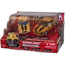 Transformers Year 2007 Movie Series Exclusive 2 Pack Deluxe Class 6 Inch Tall Robot Action Figure Collectible Set - Evolution of a Hero with Classic Camaro Bumblebee and Battle Damaged Camaro Concept Bumblebee by Hasbro