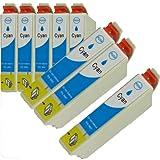 N.T.T.® 8x Stück XL Tintenpatronen kompatibel zu T1282 C Cyan / Blau Epson Stylus SX125; SX130; SX235; SX235W; SX420W; SX425W, SX435W; SX440W; SX445W ; S22 ; BX305F; BX305FW; BX305FW Plus