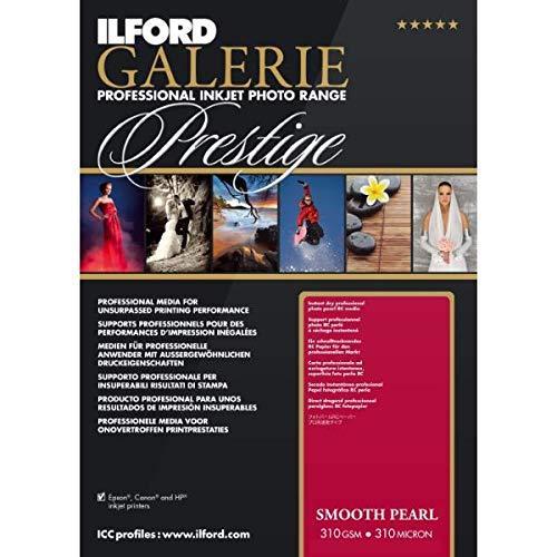 ILFORD GALERIE Prestige Smooth Pearl 310gsm A3+ - 329mm x 483mm 25 Blatt - Drucker 13x19