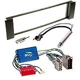 Audi A6 4B 00-05 1 DIN Autoradio Einbauset inkl. Kabel, Adapter und Radioblende in schwarz