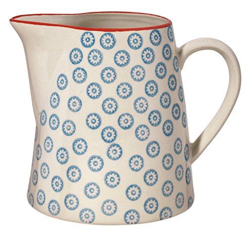"""Bloomingville Teekrug Krug Kanne Milchkanne\""""Emma\"""" blau/handmade / fasst 700 ml"""