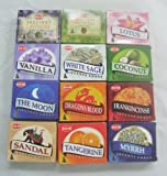 12 Assorted Boxes of HEM Incense Cones, Best Sellers Set #2 12 X 10 (120 total) by Hem