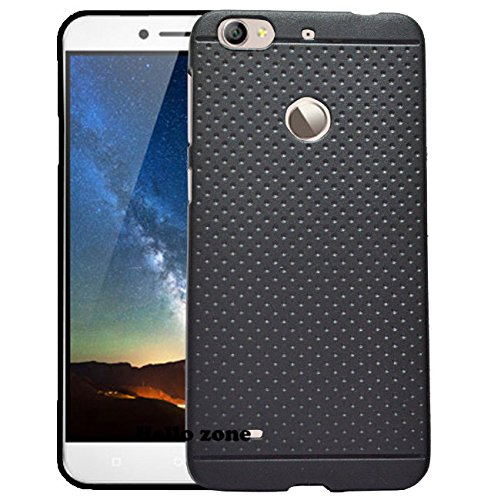 Hello Zone Exclusive Dotted Matte Finish Soft Back Case Cover For Letv Le 1S and Le1s Eco-Black