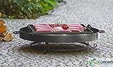 2 in 1 Korono Feuerschale 60 cm & Grill Rost 44x44 cm | Grillen & Chillen | Feuerstelle - Feuergrill