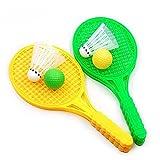 Happysea 2 Pairs Child Badminton Tennis Racket Baby Sports Bed Toy Educational Toys, Color Random