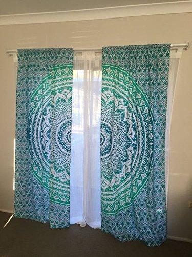 ganesham Handwerk-Schöne Ombre Mandala Vorhänge, Tapisserie Drapes, Mandala, indische Vorhänge Mandala Wandbehang Bohemian Decor Fenster Behandlung Door Hanging