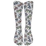 Unisex Long Socks Colors Bicycle Pattern Comforable Knee High Stockings