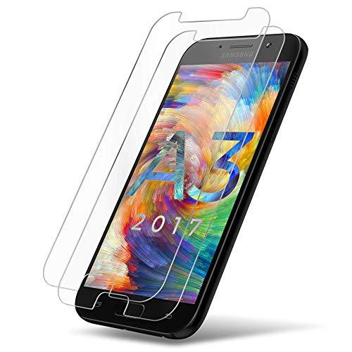 galaxy a3 glas UTECTION 2X Panzerglas Folie für Samsung Galaxy A3 2017 - Schutzfolie aus Glas gegen Displayschäden - Passgenaue Panzerglasfolie Anti Kratzer - Displayschutzfolie Schutzglas Clear Durchsichtig